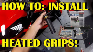 How to install heated grips on <b>motorcycle</b> (oxford grips) SUPER ...