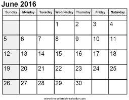 Image result for june printable calendar 2016