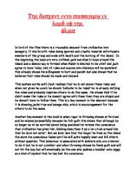 lord of the flies civilisation essay   essays on the place of    lord of the flies essay titles