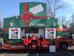 latest headlines com feeling that holiday stress already the excedrin gift wrapping truck outside branford wal mart