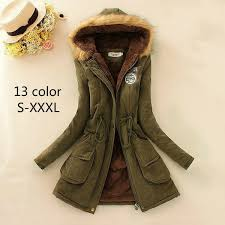 <b>2018 Winter Womens Jacket</b> Parka Casual Outwear Military Hooded ...