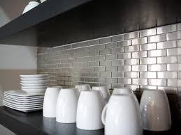 kitchen backsplash stainless steel tiles: metal tile backsplashes hkitc after stainless steel tile kitchen backsplash sxjpgrendhgtvcom