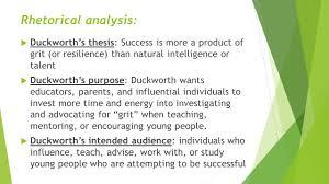 ted talk the key to success grit by angela lee duckworth 2013 3 rhetorical analysis