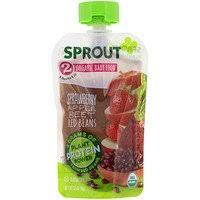 Sprout Organic, <b>Детское питание</b>, <b>этап 3</b>, тыква, яблока, красная ...