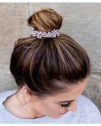 <b>Metallic</b> Lavender Imitation Pearl Hair Tie - <b>Women</b>