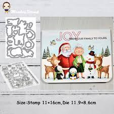 <b>Monkey</b> Santa Claus and Reinde Metal Cutting <b>Dies</b> and Stamps ...