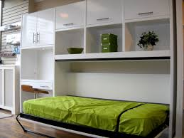 l beautiful murphy bed sofa built in large white lacquer finish wooden wall cabinets equipped small study desk which has brown finish wooden chair beautiful murphy bed desk
