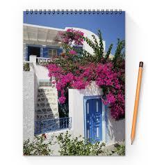 """Блокнот на пружине А4 """"Греция. Остров Санторини"""" #2577251 ..."""