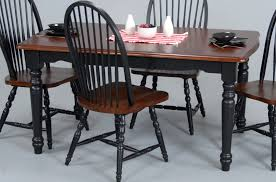 Two Toned Dining Room Sets Unframed Black Glass Dining Table With Wooden Legs Mixed