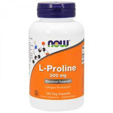 L-пролин Now Foods, <b>L</b>-<b>пролин</b>, <b>500 мг</b>, 120 растительных капсул ...