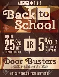 fun back to school flyer advertisement design template fun back to school flyer advertisement design template coupons stock vector 35653207