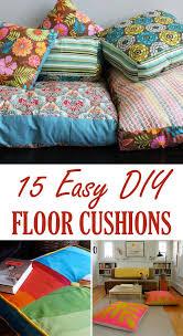 floor sitting furniture. 15 easy diy floor cushions sitting furniture