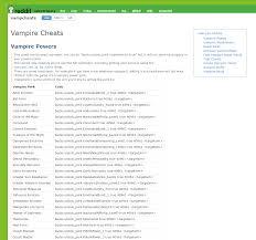 the sims vampires cheat sheet master list by twistedmexi simsvip vampcheats sims4cheats