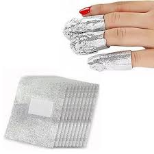 <b>100pcs</b> Aluminium Foil Nail Art Soak Acrylic Gel Polish Nail Wraps ...