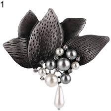dukesong Brooches for Women Women <b>Retro Leaf Faux</b> Pearl ...