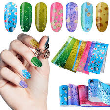 <b>16pcs Nail Foil Set</b> Summer Design Transfer Sticker <b>Water Drop</b> ...