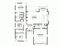 Contemporary House Plans One StorySmaller house plan  single story