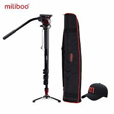 <b>miliboo</b> MTT705A <b>Aluminum Portable</b> Fluid Head Camera Monopod ...