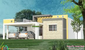 sq m flat roof house plan   Kerala home design and floor plans sq ft flat roof house plan