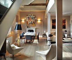 st pancras penthouse apartment mid sized trendy great room photo in london with beige walls medium blueprints office desk preview save