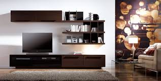 modern living room shelves