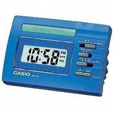 Casio DQ541-2E Blue <b>LED</b> Light <b>Digital Travel</b> Alarm Clock with ...
