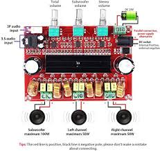 Digital Subwoofer Amplifier Board DC12V-24V 2x50W 100W <b>XH</b> ...