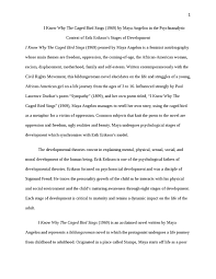 i know why the caged bird sings psychology essay   studentsharei know why the caged bird sings essay example