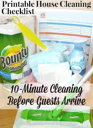 printable house cleaning checklist organized 31 printable house cleaning checklist for a quick 10 minute clean up before guests arrive