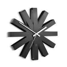<b>Часы настенные Ribbon</b>, <b>черныe</b> (артикул 7009.30) - Проект 111