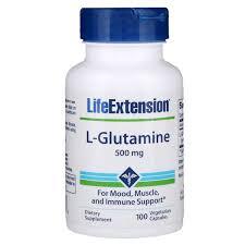 Life Extension, L-Glutamine, 500 mg, 100 Vegetarian Capsules ...