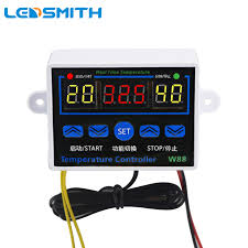 <b>LEDSMITH</b> W88 <b>110V 220V Digital</b> Thermostat Temperature ...