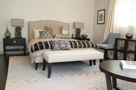 padded bench bedroom fascinating decoration
