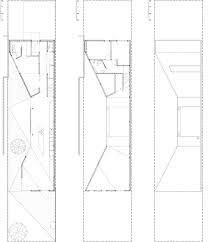 Bow House by Edwards Moore has a narrow middle that frames a patioFloor plans   click for larger image Bow