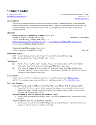 career objective computer science engineer resume computer science resume sample
