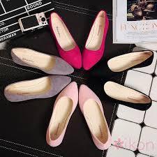 IKON Fashion shallow mouth flat <b>shoes</b> solid color work <b>shoes</b> ...