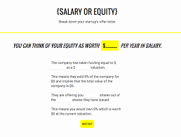 offered equity in your company a new site wants to help you image salaryorequity com