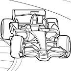Раскраска онлайн гоночные машины