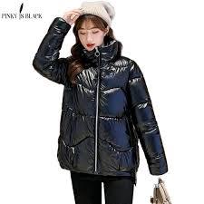 <b>PinkyIsBlack 2020</b> Autumn <b>Women's</b> Winter Coats Fashion Glossy ...