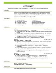 breakupus pleasing marketing resume examples by aiden fetching marketing delightful resume samples for customer service also dance resume examples in addition busboy resume and business skills