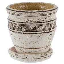 <b>Горшок</b> цветочный «<b>Аттика</b> №1» 0.8 л 140 мм, шамотная глина в ...