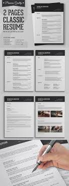 best ideas about cv classique citroen com two pages classic resume cv set template indd psd docx