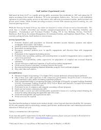 resume sample auditor resume sample