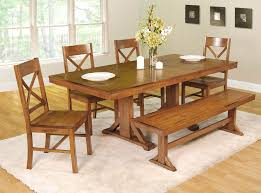 Farm Style Dining Room Tables Interesting Ideas Country Dining Table With Bench Farmhouse Table