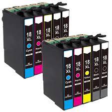 Compatible <b>10PCS 18XL</b> T1811 T1814 <b>Ink Cartridge</b> for XP205 ...