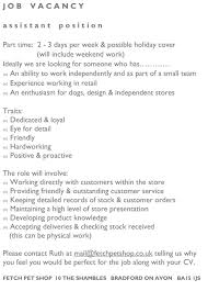 pet shop job vacancy south wraxall