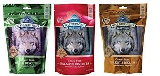 Blue Buffalo Wilderness Trail Treats GrainFree <b>Dog Biscuits 3 Flavor</b>