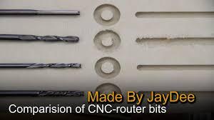 Comparison of 4 different CNC endmill <b>router bits</b> - YouTube