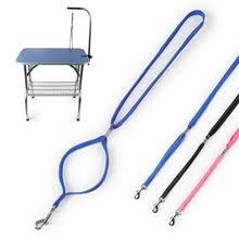 105cm pets grooming bracket with sling adjustable steel suspender table arm support dog cat holder for bath desk