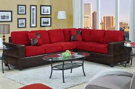 amazing red furniture living room with casablanca saddle microfiber black and red furniture